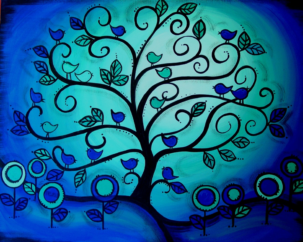 Make The Best Of Things Tree Painting Love