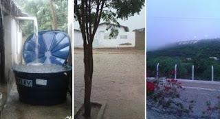 Chove na Serra de Cuité e internautas comemoram nas redes sociais