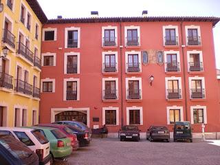 Detalle fachada casa plaza de Santa María de Calatayud