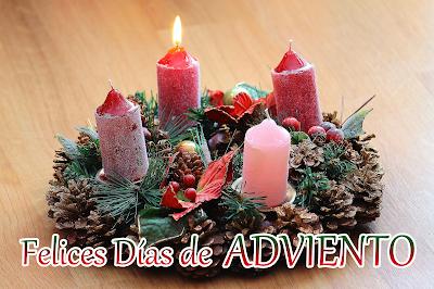 Corona de Adviento con velas y mensaje especial