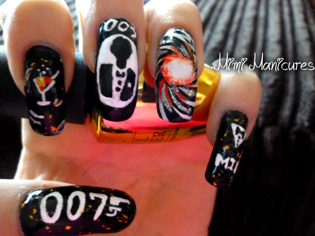 my adventures in nail polish: 007 james bond nail art