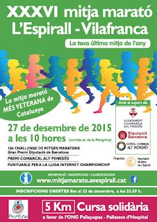 Cartel mitja marató l'Espirall - Vilafranca