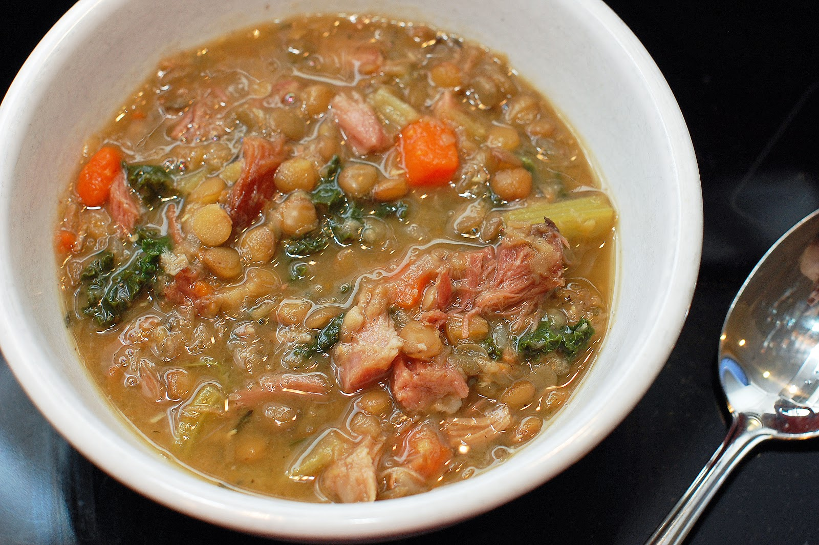 In Michelle's Kitchen: Kale and Lentil Soup with Ham