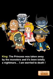 國王之所以憂慮就是因為公主被抓走了