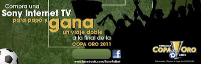 premios viajes concacaf copa de oro 2011 concurso sony internet tv Mexico 2011