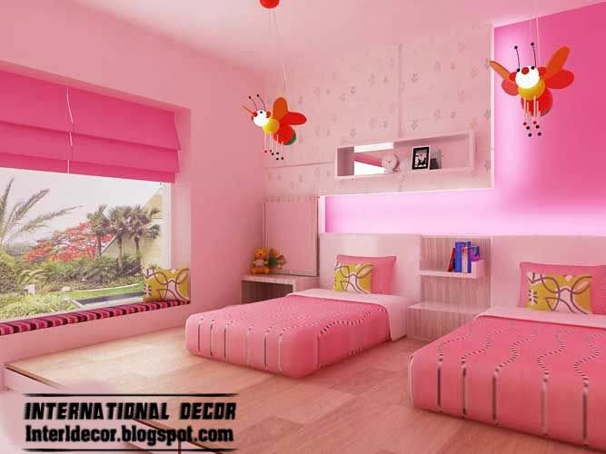 modern teen girls bedroom pink design ideas pink windows shade - Girl Bedroom Designs