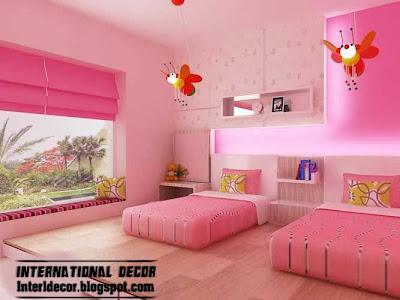 Modern teen girls bedroom pink design ideas  pink windows shade15 Pink Girl s bedroom 2014   Inspire pink room designs ideas for  . Girl Bedroom Design 2014. Home Design Ideas