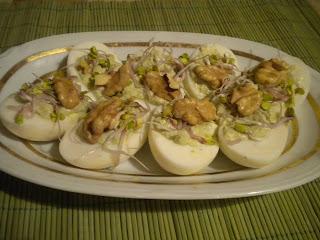 jajka faszerowane serem pleśniowym