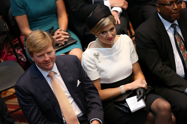 King Willem-Alexander and Queen Maxima of the Netherlands tours a 'Global City Team Challenge' event to launch the 'Global Smart City Coalition