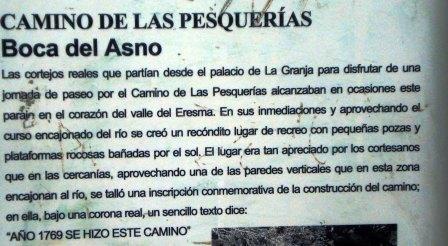 - Ruta por las pesquerías Reales (Segovia). Boca%20del%20asno