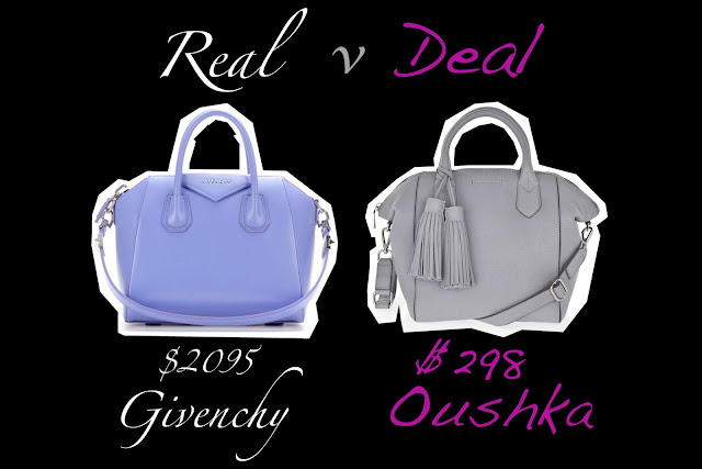 Real versus Deal featuring Givenchy and Oushka handbags