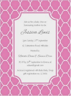 Pink Quatrefoil Printable Party Invitation by Love That Party