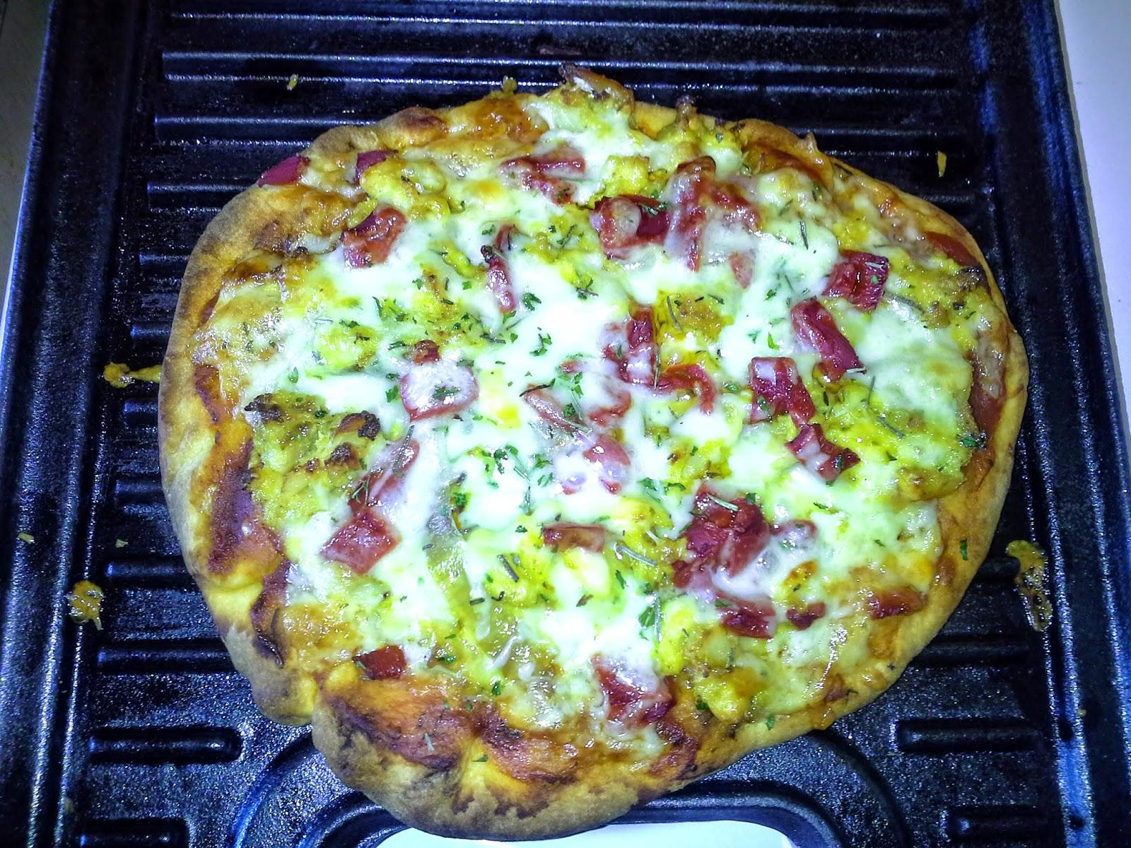 Ackee and Codfish pizza