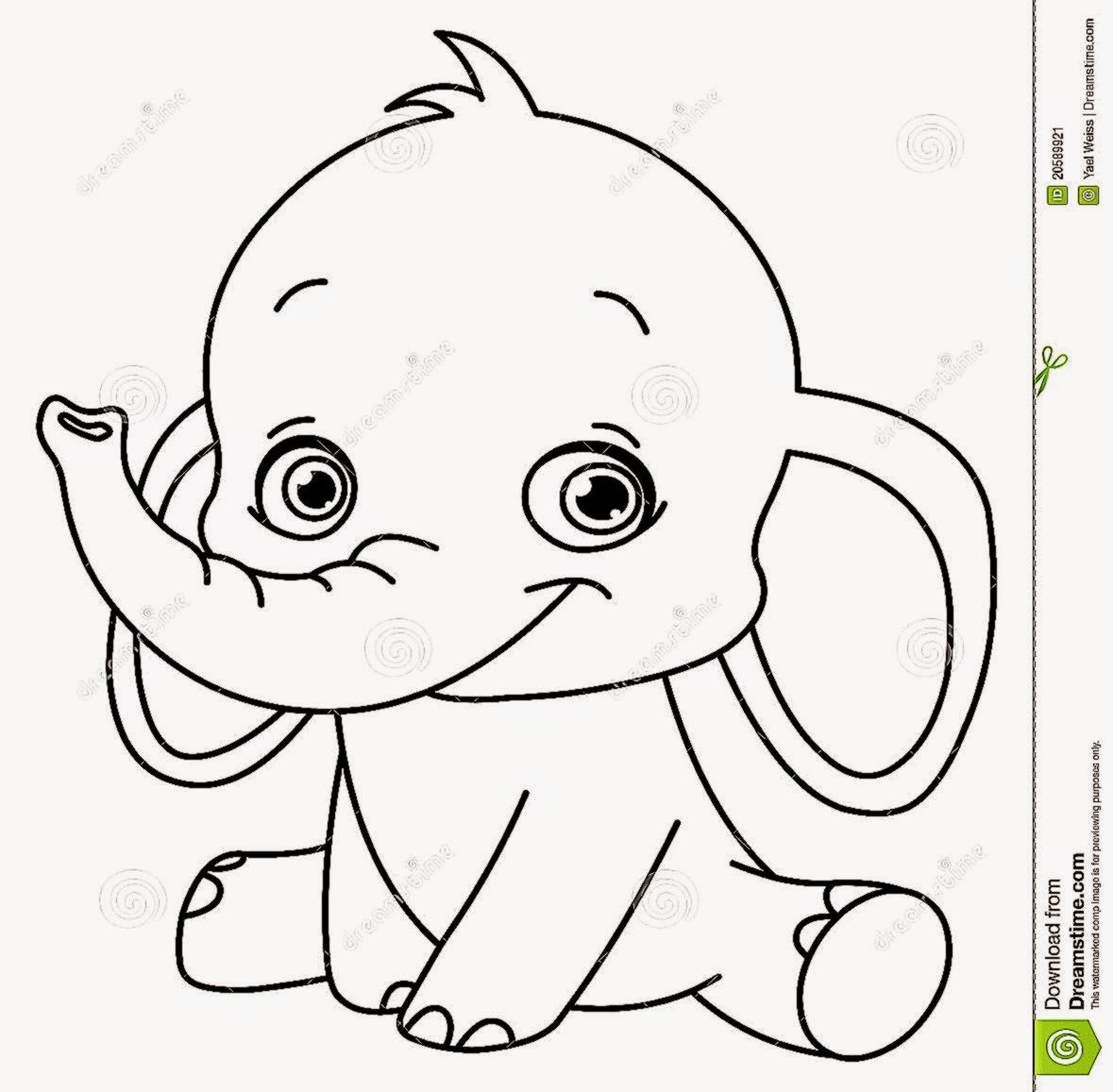 Elephant Face Coloring Pages