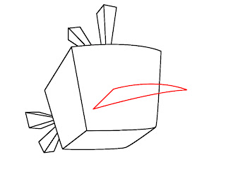 How To Draw Angry Birds Space Step 3