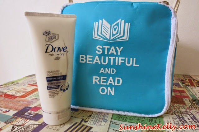 Dove Hair Intense Repair Conditioner, Stay Beautiful & Read On Bag of Love, Bag of Love, CK One Red, Uberman Hydrating MIst, Hove Hair Intense Repair, Miacare Acne Patch, Covo HD BB Cream, Human Nature, Overnight Elixir, Mask of Love, Unico, Philosophy, Hope in a jar, Nuxe nirvanesque, beauty bag