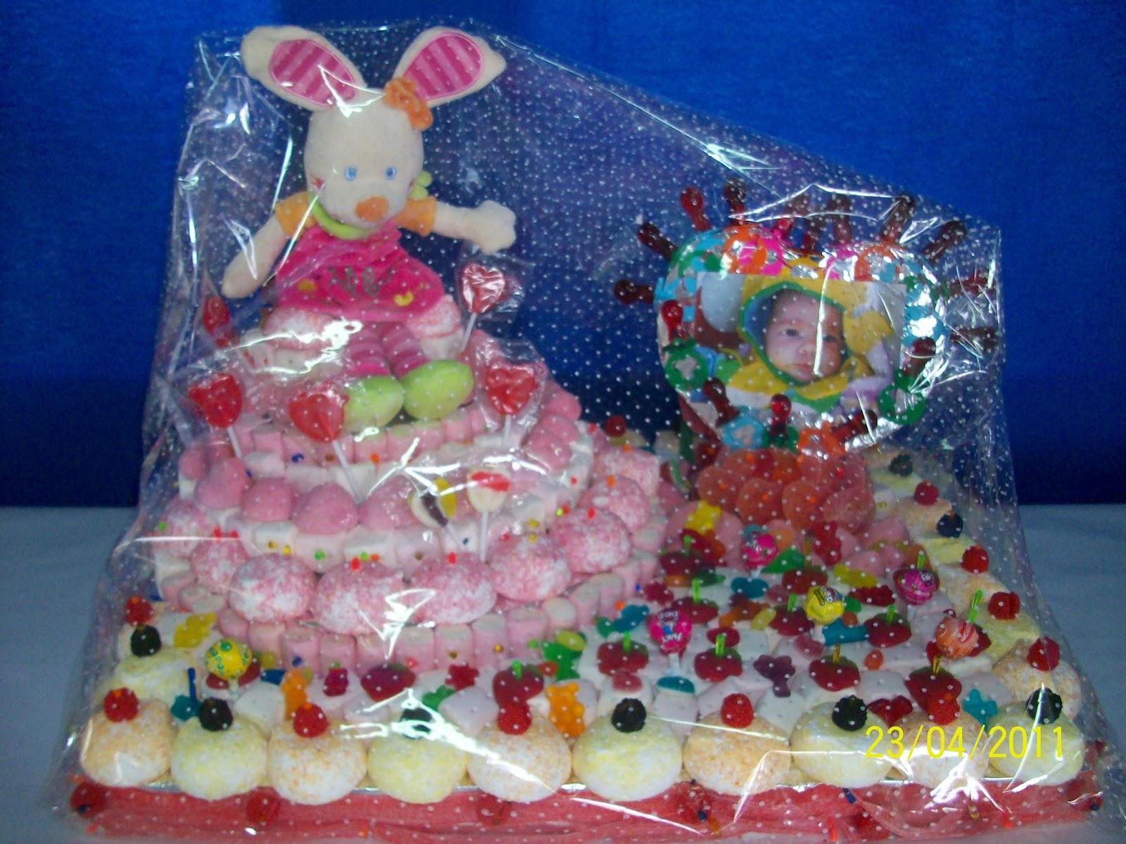 Puragomaeva tarta de chuches para comuniones bautizos y - Chuches para bautizo ...