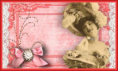 cabecera para blog vintage con dama con sombrero de plumas y lazo