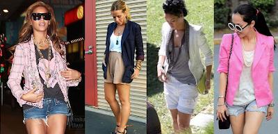 Pessoas famosas usando blazers boyfriend de maneira sensual