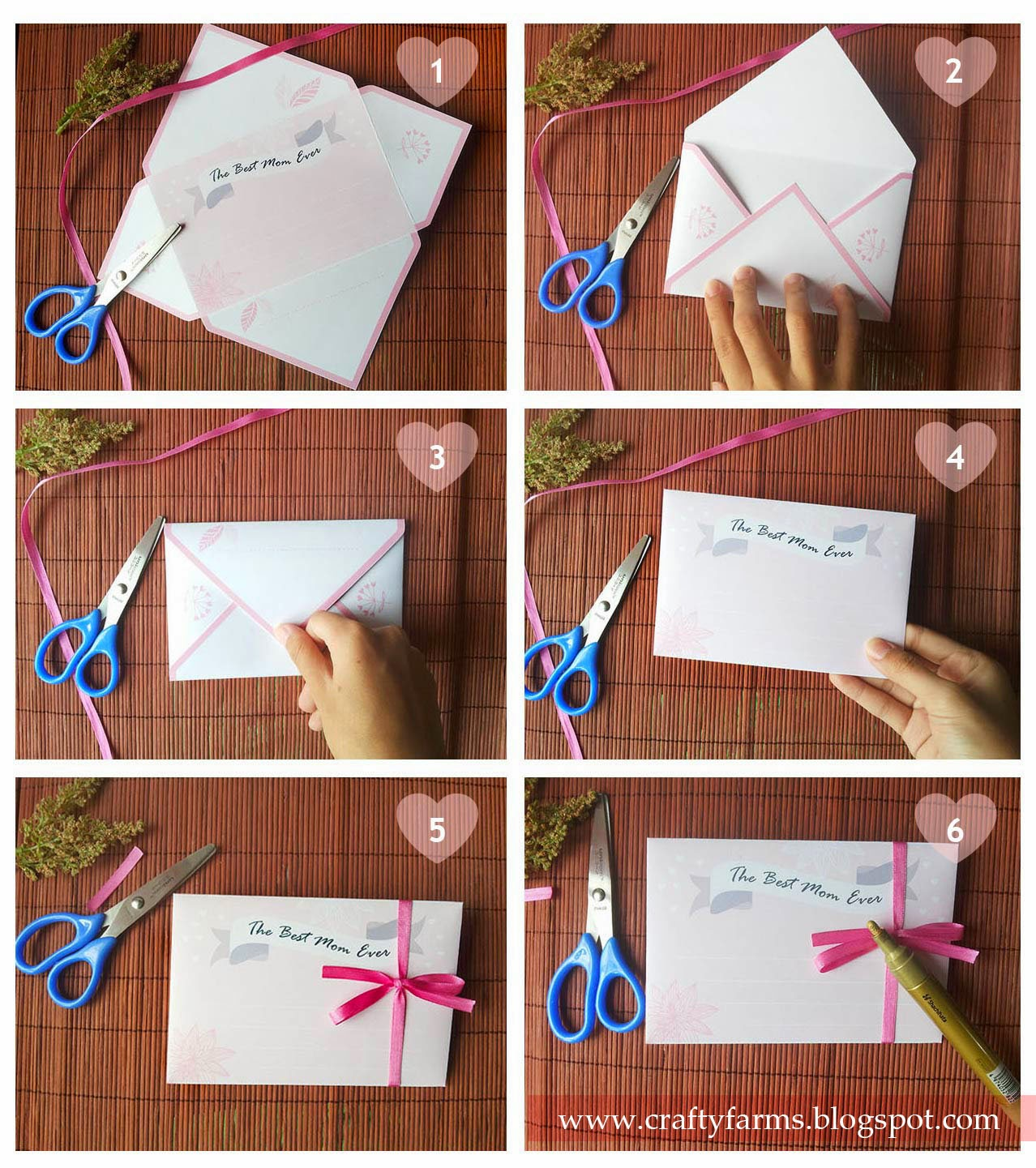 mother's day petal card printable, love gift, diy tutorial, freebie, free for all