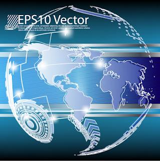 グローバルなテクノロジーを表現した背景 Global technology text background イラスト素材