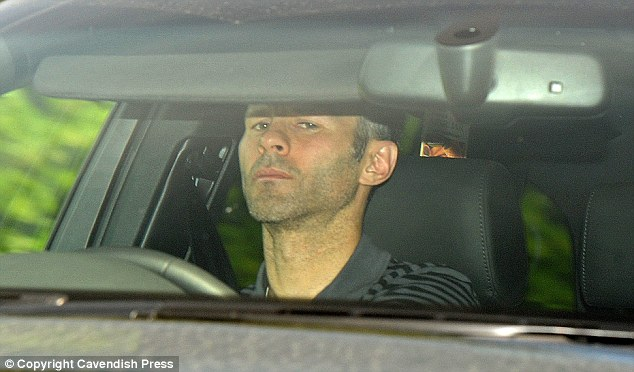 ryan giggs dresses. Ryan Giggs pictured today on