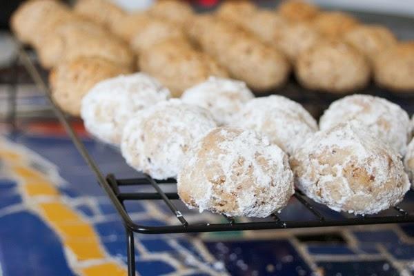 dessert, nuts, sugared pecan balls, gluten free baking, gluten free pecan cookies, gluten free christmas cookies, paleo cookies