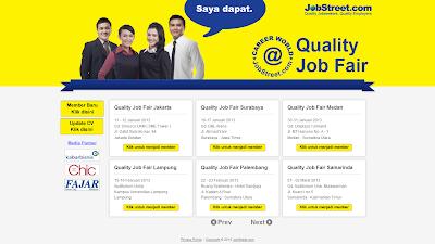 Jadwal Job Fair Jobstreet terbaru 2013