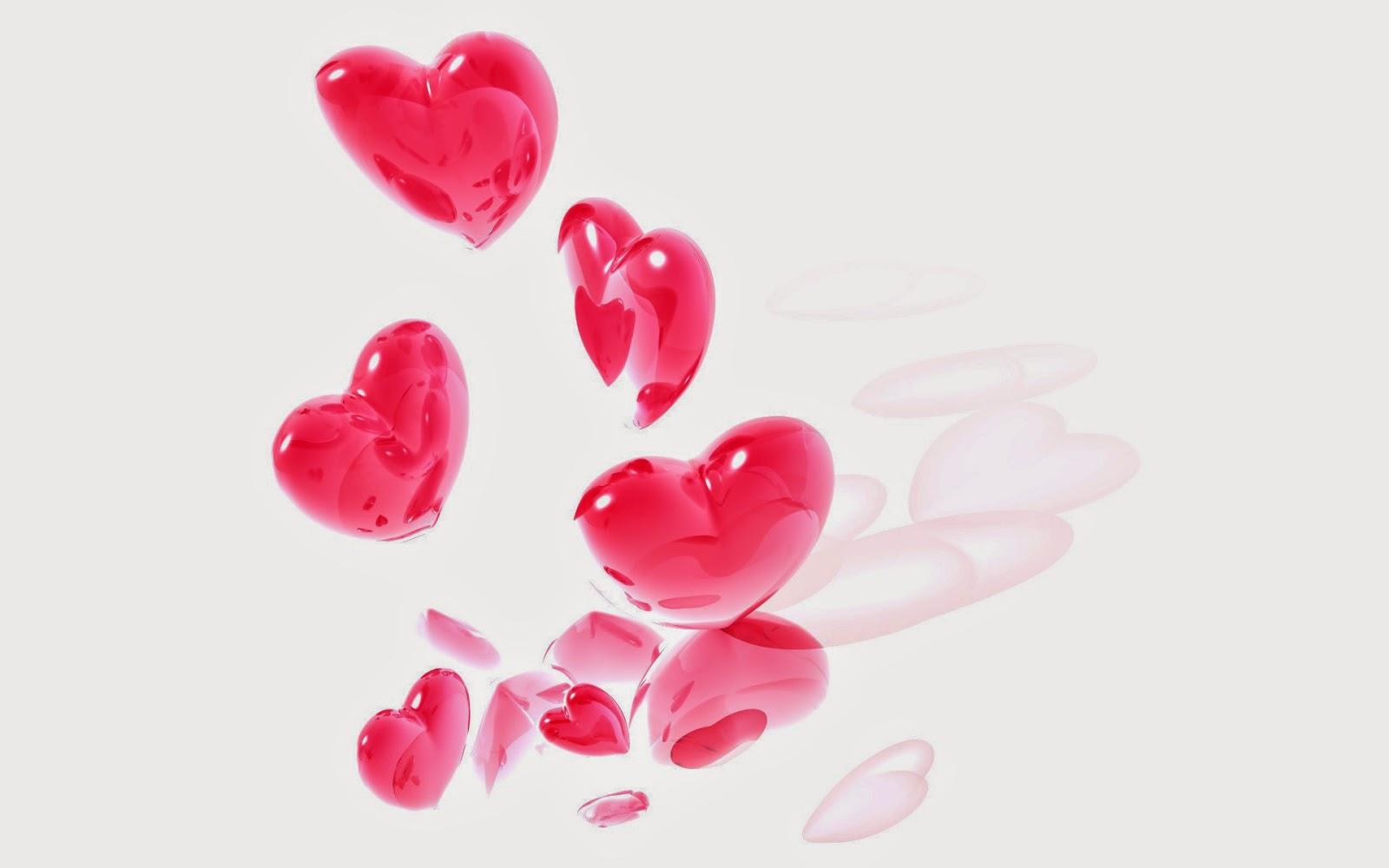 Wallpaper met roze hartjes