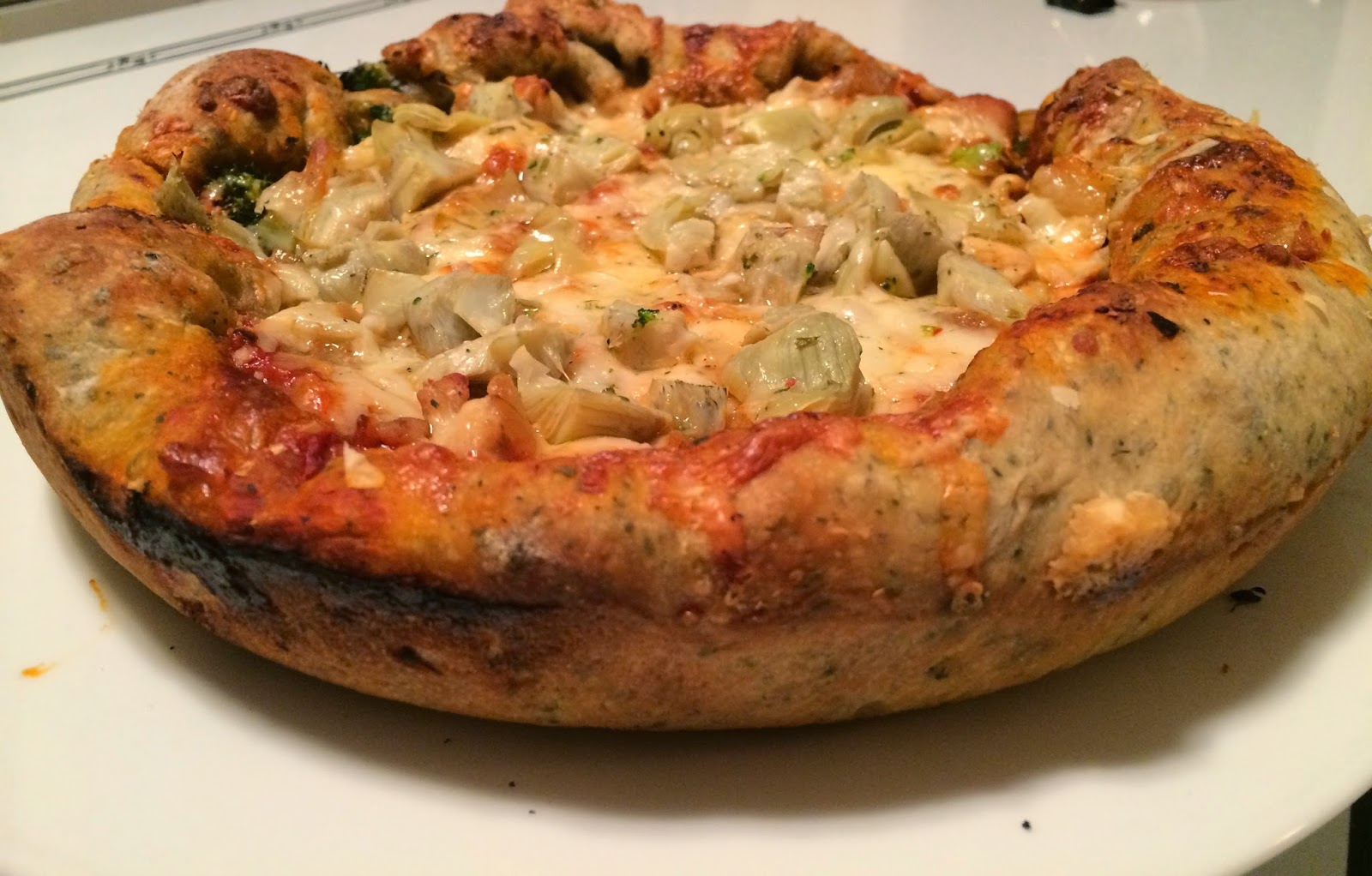 Easy Deep Dish Pizza