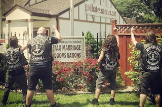 Panzerfaust pissing on the Westboro Baptist Church (photo: Loudwire)