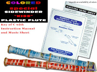 SPECIAL COLORED PLASTIC SIDEWINDER FLUTE KEY OF C