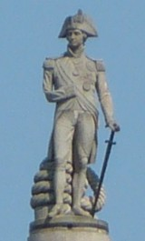 Statue of Admiral Horatio Lord Nelson on Nelson's Column, Trafalgar Square, London