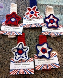 Red, White, and Blue Star Hairbands by Helen
