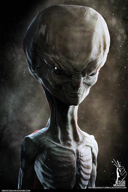Humanoid Alien humanoide 3d Jesse gutierrez art zbrush peru,artista peruano 3d diseño 3d