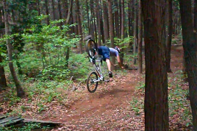 mountain biking crashes