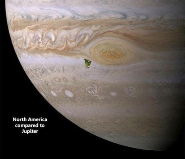 Юпитер и Северна Америка