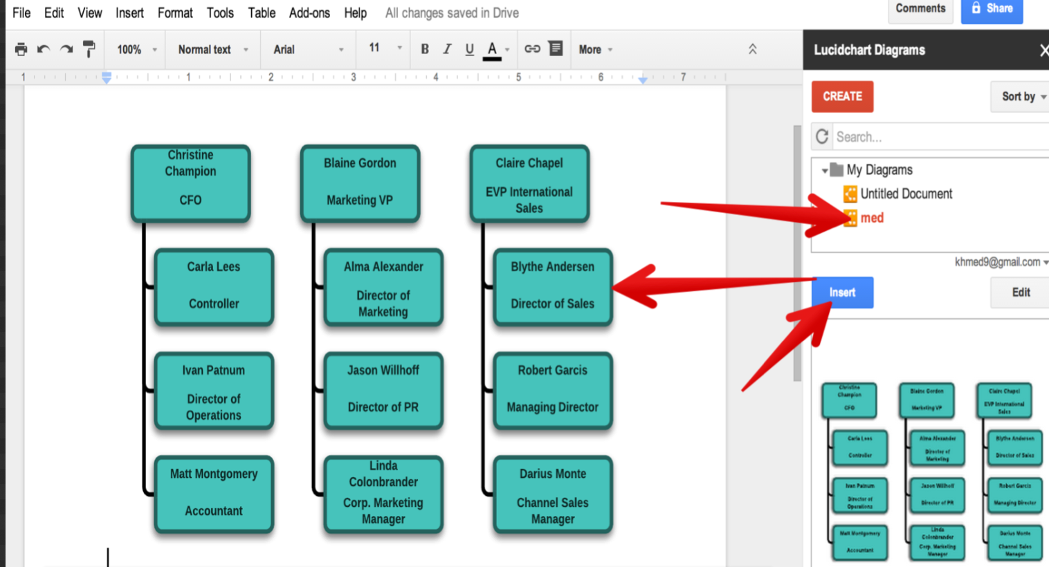 how to make diagrams in google docs