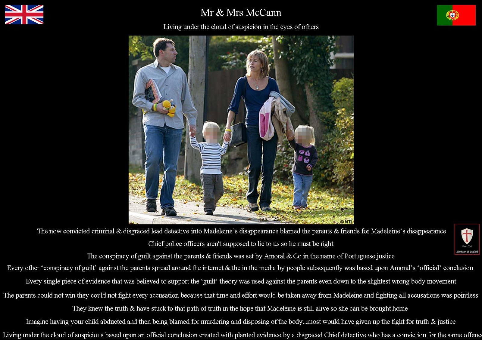 Madeleine McCann Theory: Madeleine's parents & The cloud of suspicion