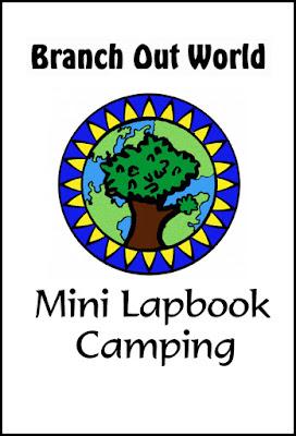 free lapbook, camping lapbook