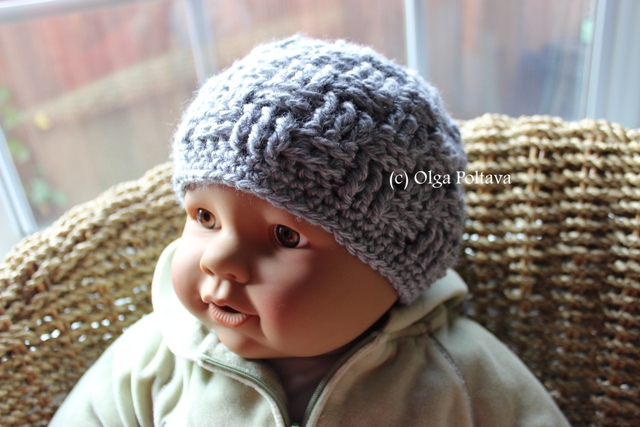 Lacy Crochet Basketweave Baby Hat Free Crochet Pattern