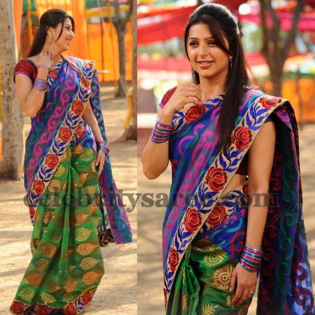 Bhumika in Half and Half Saree