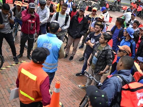 Jornada de seguridad vial para ciclistas realizó Secretaría de Movilidad