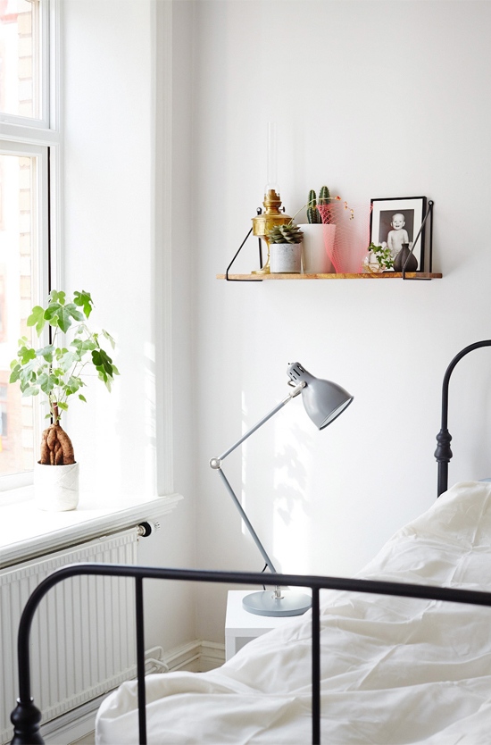 Light sneaking in the bedroom, photographed by Sara Landstedt.