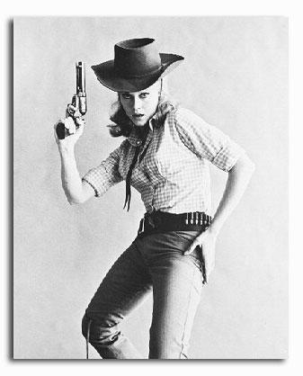 Jane Fonda in gunslinger pose Cat Ballou