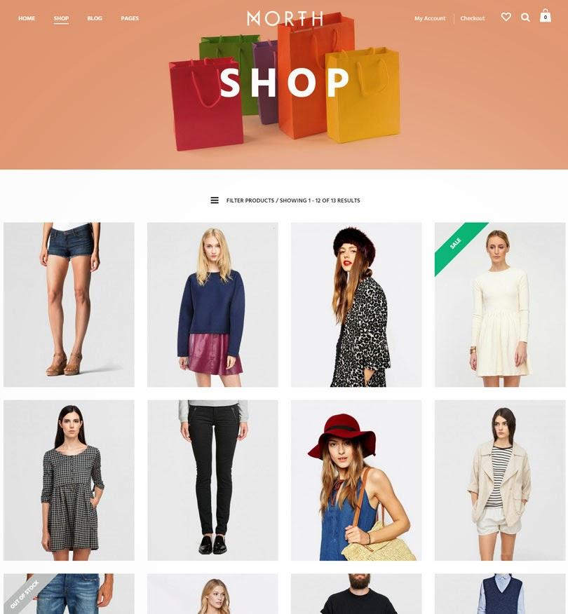 North – Unique E-Commerce Theme