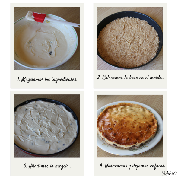 cocinando receta tarta con mascarpone y limon