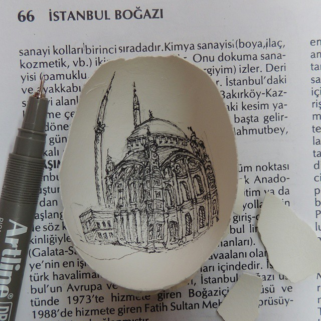 07-Büyük-Mecidiye-Camii-Mosque-Süreyya-Noyan-Architecture-Drawings-Art-Paintings-in-an-Egg-www-designstack-co