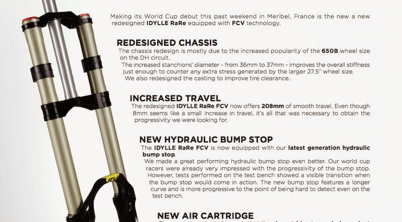 Bike News, New Product, Report, FCV by BOS, New BOS Suspension Technology, New BOS Idylle DH Fork