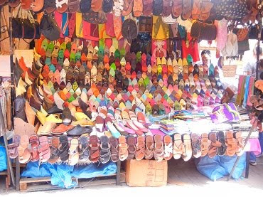 slippers in the Kasbah in Tangiers